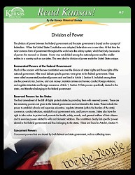 Read Kansas! Division of Power M-2 Grade 7
