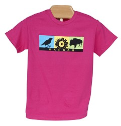 Kansas Symbols t-shirt Helconia Y - X Small
