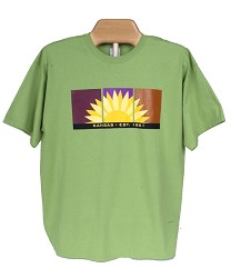 Kansas Sunflower t-shirt Kiwi A- Small