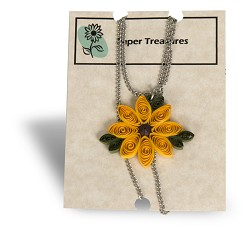 Paper Sunflower Necklace
