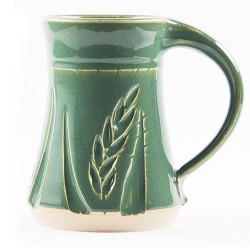 Wheat Mug Dark Green 10 oz