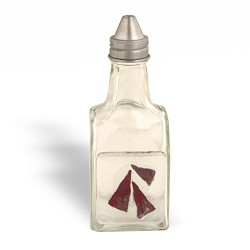 Vinegar Bottle w/ 3 Copper Triangles
