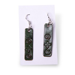 Slim Rectangle Stamped Earrings