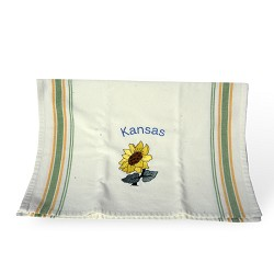 KS Single Sunflower with Colored Lettering Tea Towel - G&G