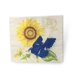 Sunflower & Bluebird Flour Sack Towel