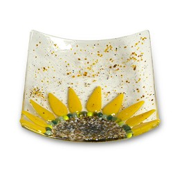 Webstore clear 6x6 sunflower dish