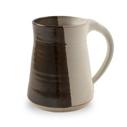 Plain Mug - Half and Half Colors Brown 10 oz