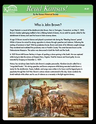 Read Kansas! Who is John Brown M-40 Grade 7