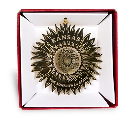 KS Sunflower Ornament Brass Round