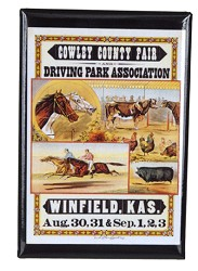 Cowley County Fair magnet KSHS Magnet