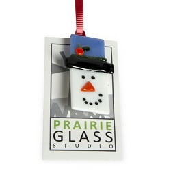 Snowman Brooch - Glass