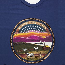 Blue State Seal Shirt Blue Small