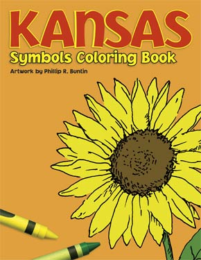 Kansas Symbols Coloring Book