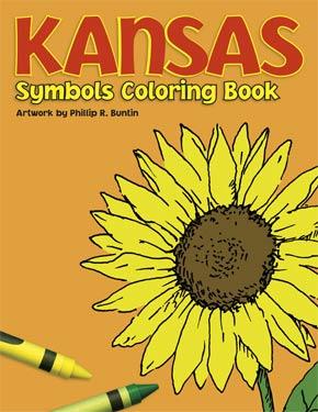 Kansas Symbols Coloring Book