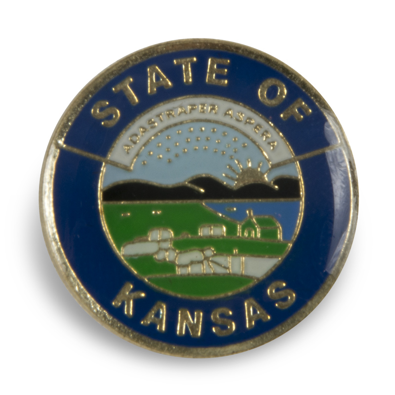 Ks State Seal pin blue,127C