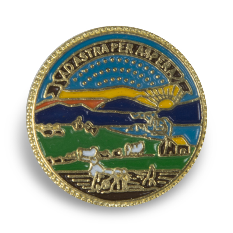 Kansas State Seal pin gold,127EC