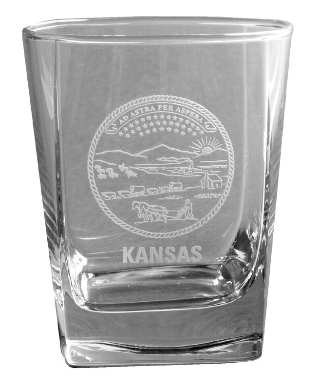 State Seal Glass 12 oz. (Whiskey)