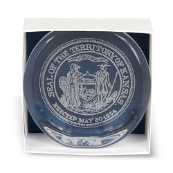 Territorial Seal Paper Weight