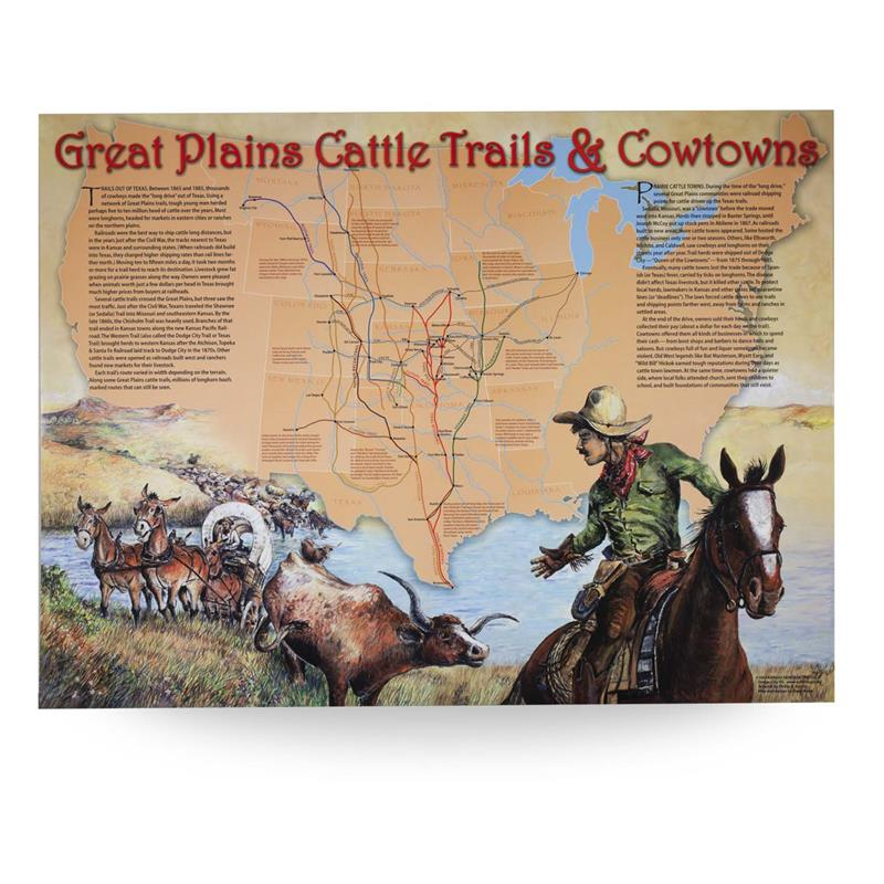 Map: Great Plains Cattle Trail