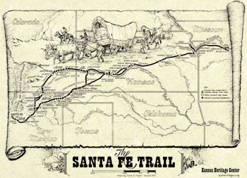 Map: The Santa Fe Trail,229W50