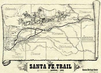 Map: The Santa Fe Trail,229W50
