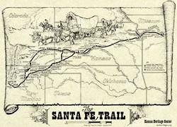 Map: The Santa Fe Trail