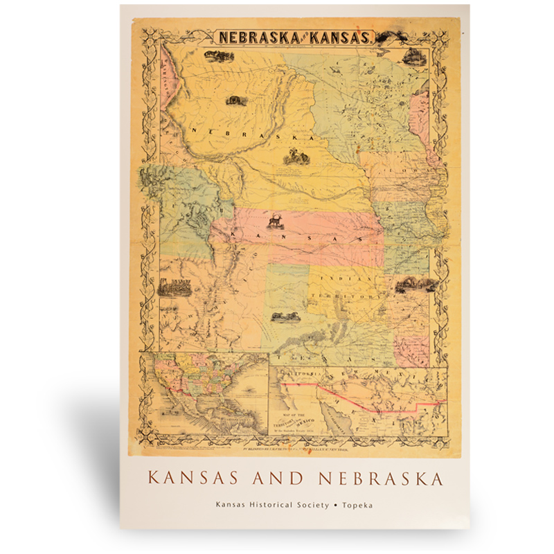 Nebraska and Kansas Territory map