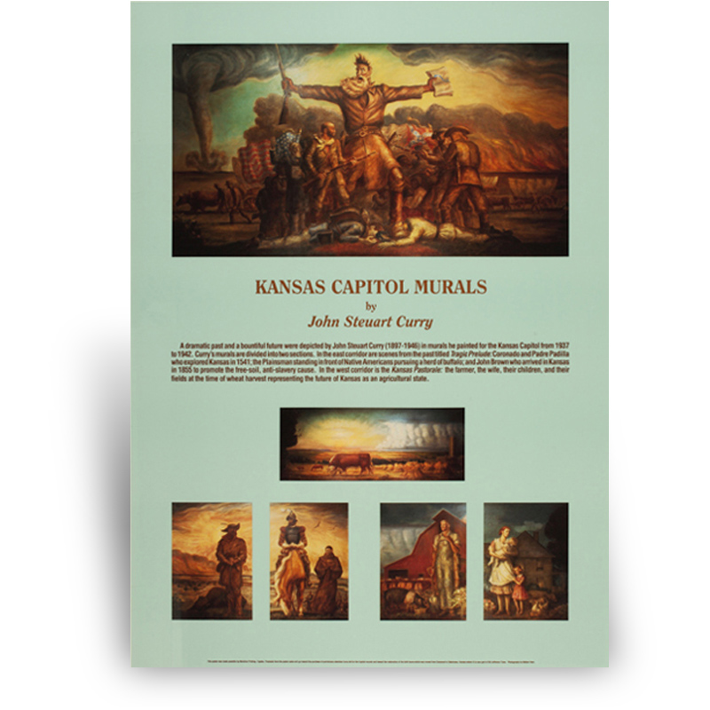 Poster: Kansas Capitol Curry Murals