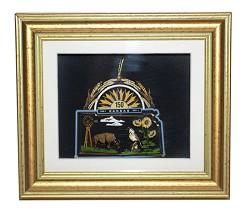 Kansas 150th ornament framed