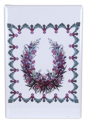Iris Garland Quilt magnet