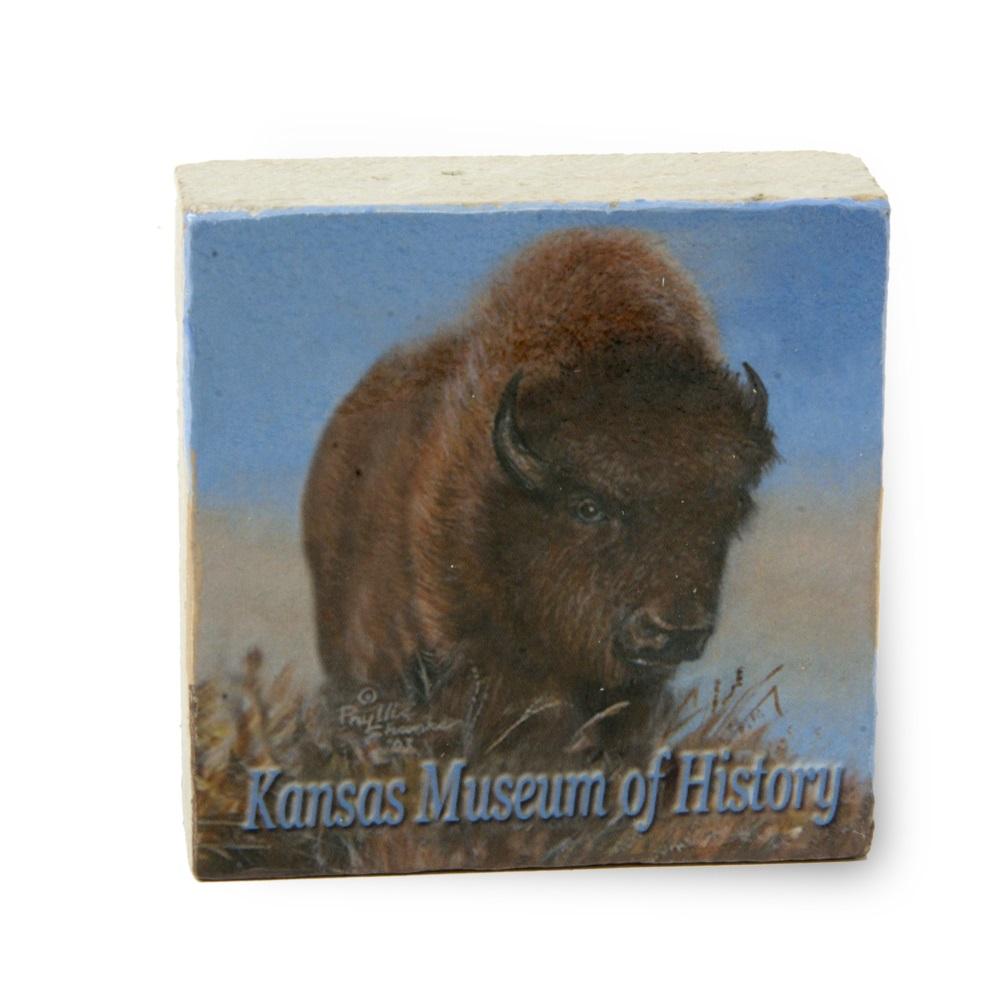 Buffalo - KMH - Limestone Paperweight,202KMH
