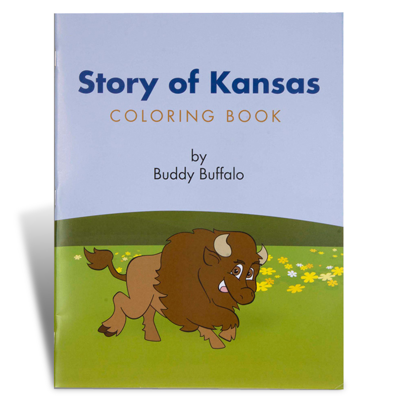 Story of Kansas Coloring Book