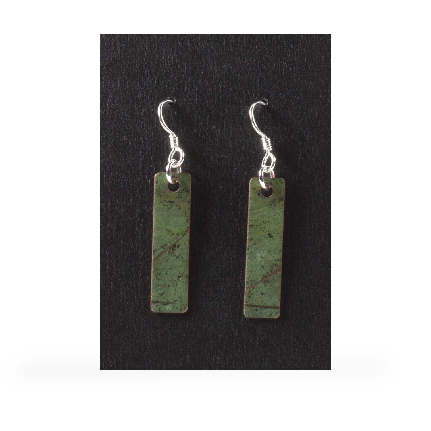 Plain Skinny Rectangle Earrings