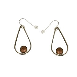 #11 Teardrop Shape with Copper Dome in Center