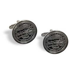 Silver State Seal Cuff Links