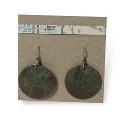 Lace Print Disc Earrings