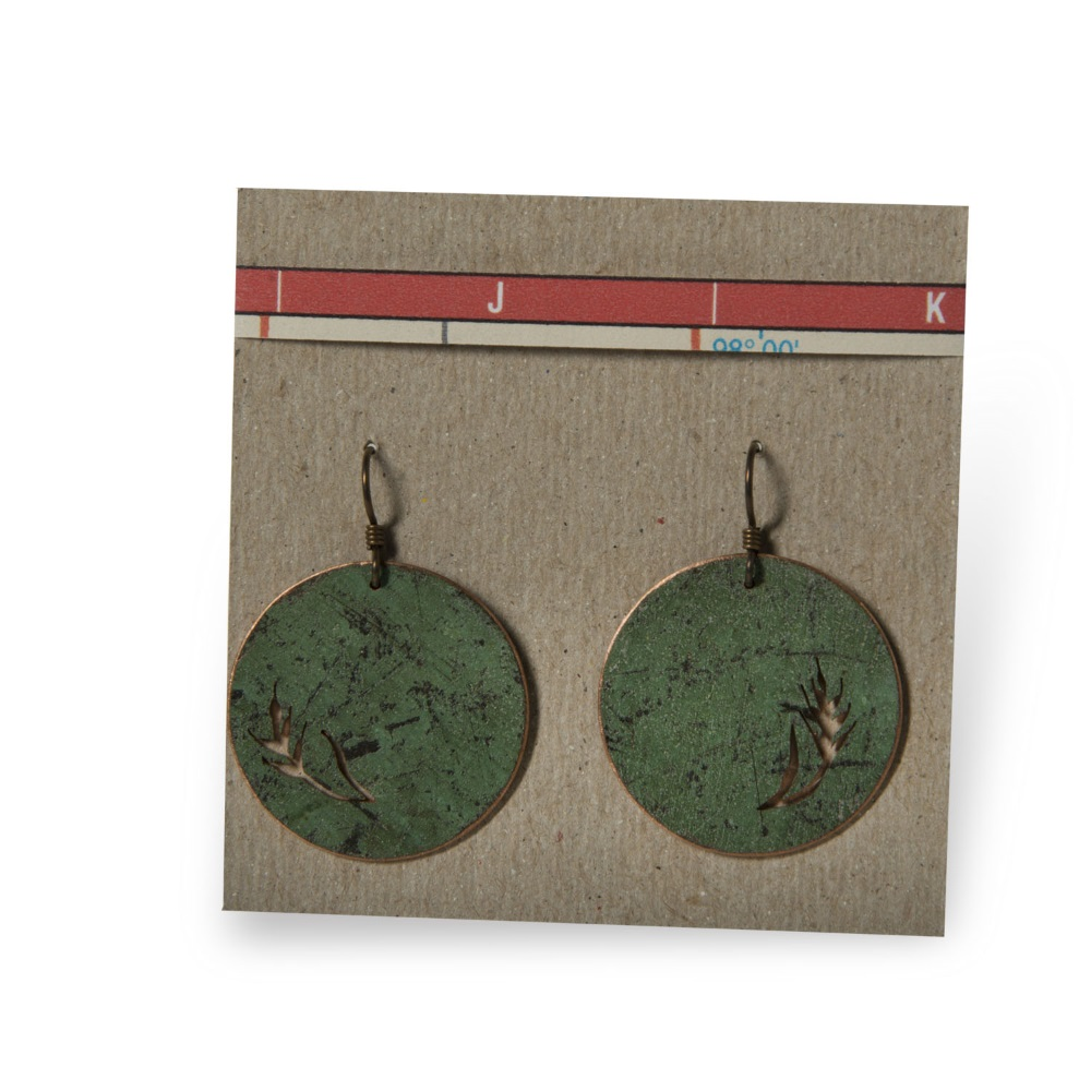 Wheat Disc Earrings