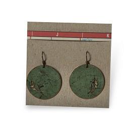 Wheat Disc Earrings