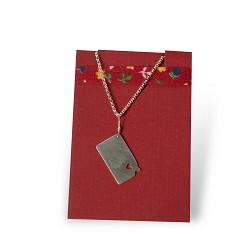KS w/ Heart Long Chain Sterling Silver