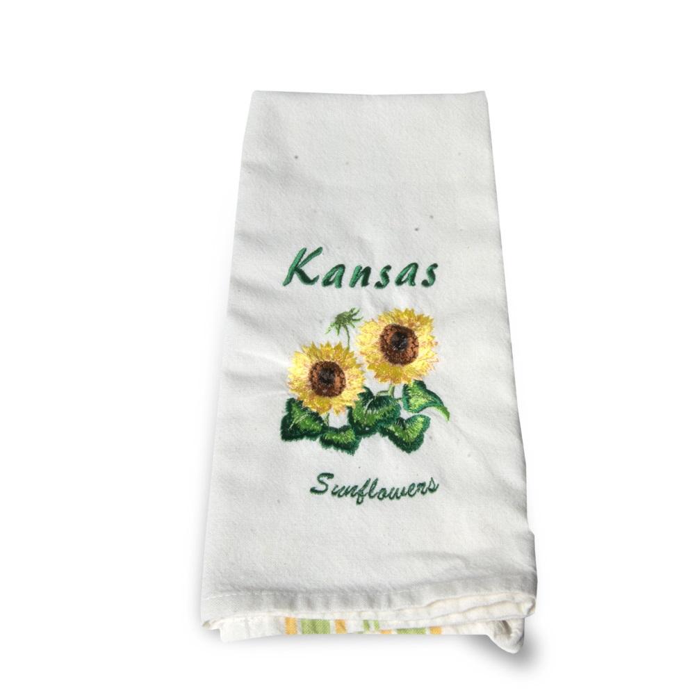 KS 2 Sunflowers with Bud Tea Towel