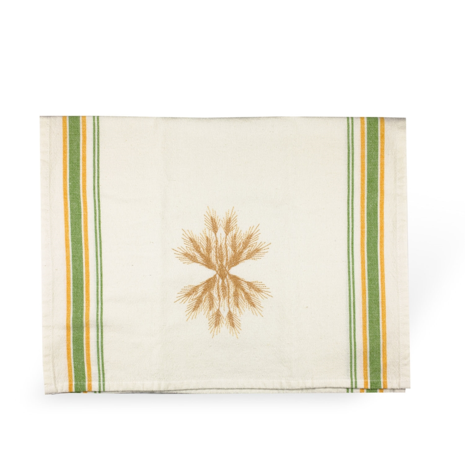 Wheat Up & Down Tea Towel