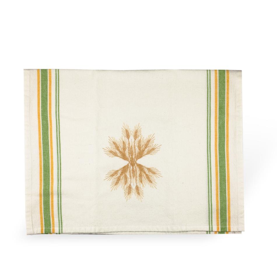 Wheat Up & Down Tea Towel