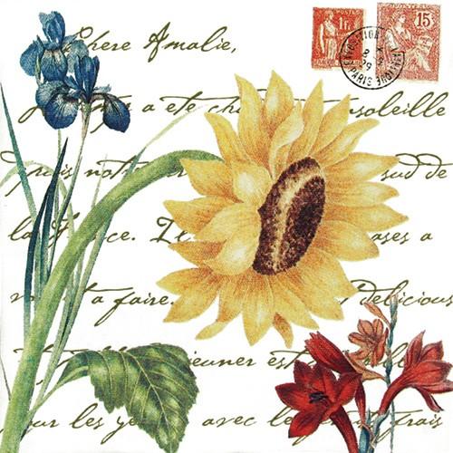 Giant Sunflower w/ Stamps Flour Sack Towel,U34-424