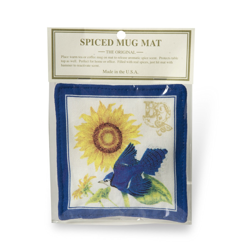 Sunflower & Blue Jay Mug Mat,S11-453