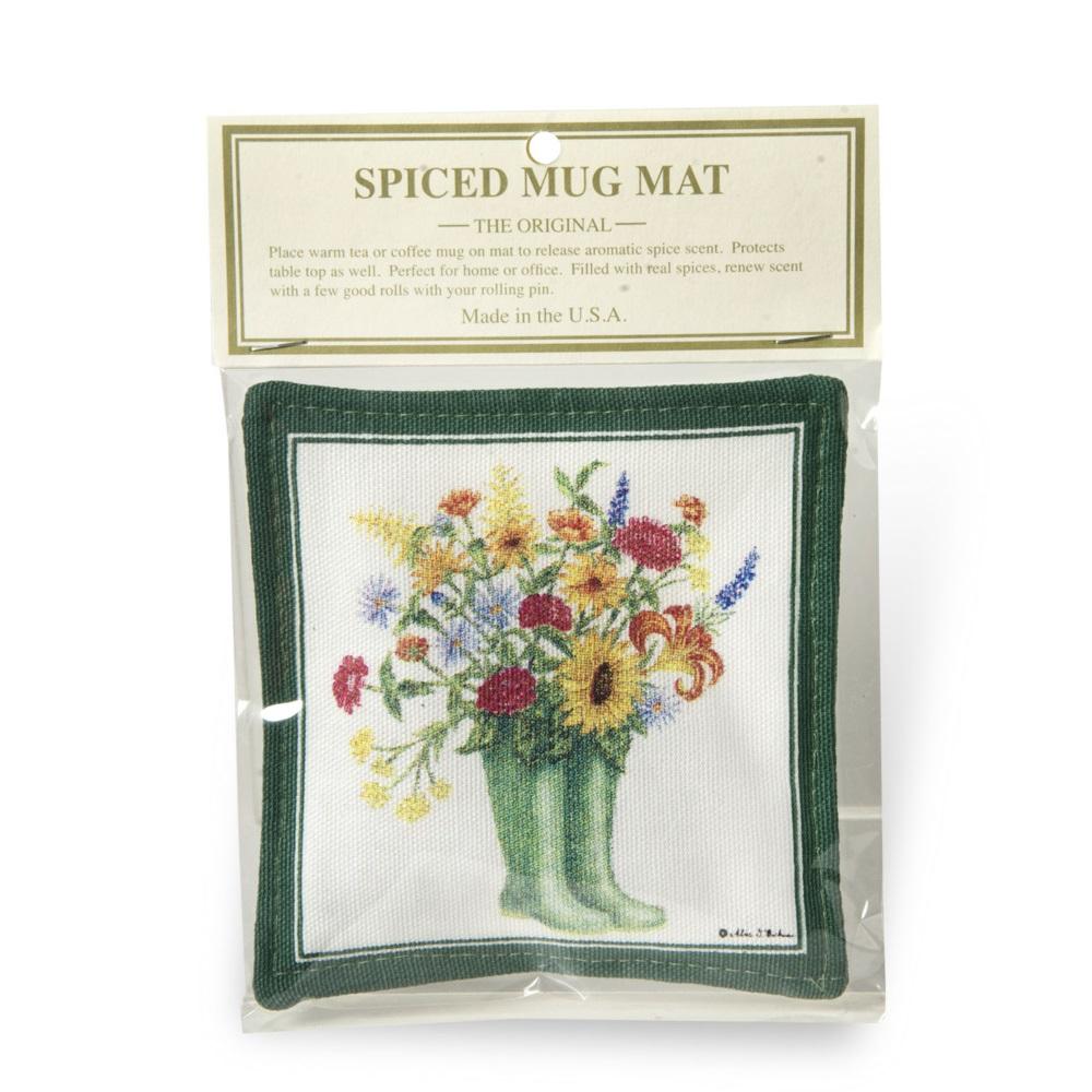 Rainboots w/ Flowers Mug Mat,S11-470