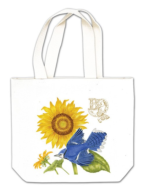 Sunflower & Blue Jay Gift Tote,18-453