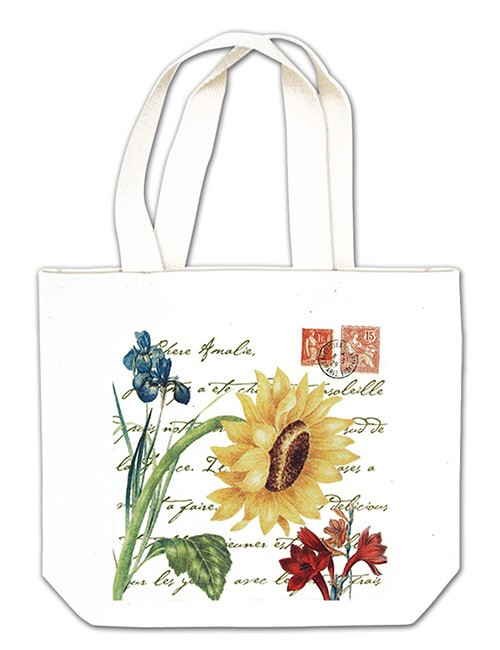 Giant Sunflower w/ Stamps Gift Tote,18-424