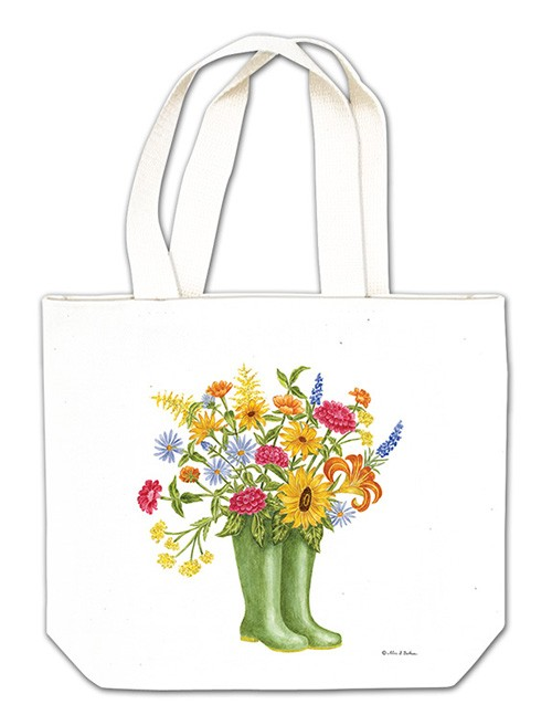 Rainboots w/ Flowers Gift Tote,18-470