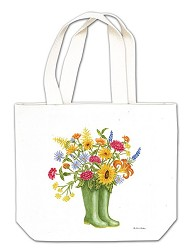 Rainboots w/ Flowers Gift Tote