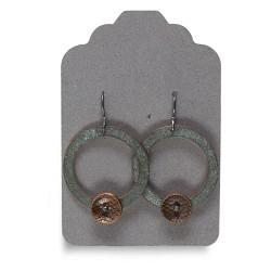 Small Circle w/ Single Bell Earrings